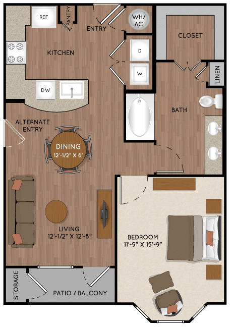 Tomball TX One bedroom apartment for rent
