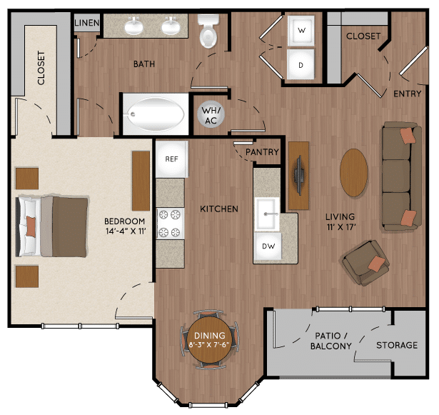 One bedroom apartment for rent in Tomball TX