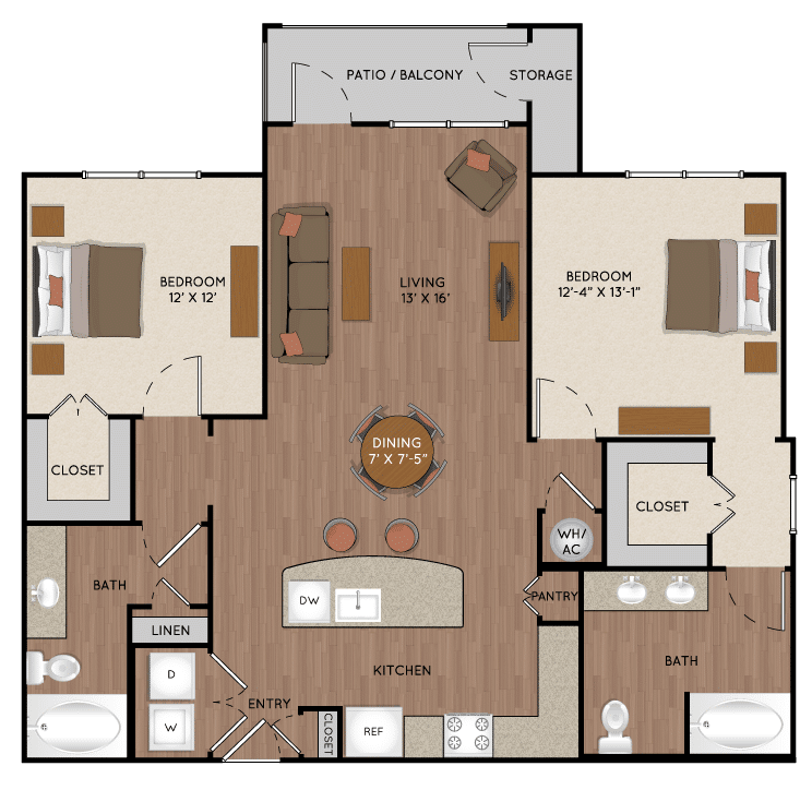 Two bedroom apartment in Tomball TX