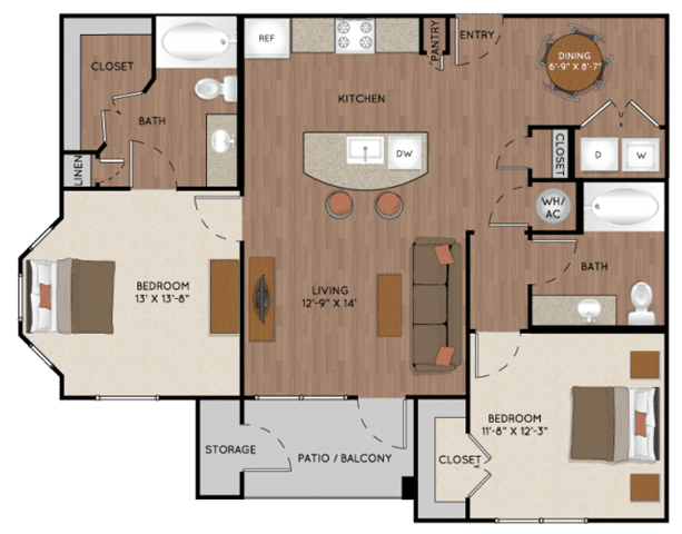 Two Bedroom Apartment Rentals in Tomball, Texas