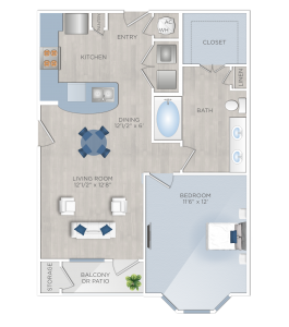One Bedroom Apartments in Tomball, TX - The Preserve at Spring Creek - A2