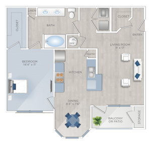 One Bedroom Apartments in Tomball, TX - The Preserve at Spring Creek - A3
