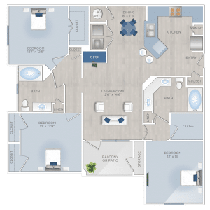 Three Bedroom Apartments in Tomball, TX - The Preserve at Spring Creek